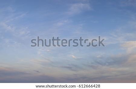 Fine Clouds Bright sky soft colors #612666428