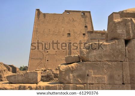 Temple of Horus, Edfu, Egypt (HDR photo) #61290376