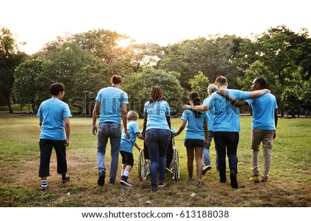 Group of Diversity People Volunteer Community Service Royalty-Free Stock Photo #613188038