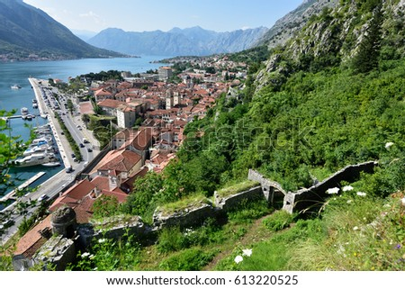 Montenegro - View of Kotor from Defensive Wals #613220525