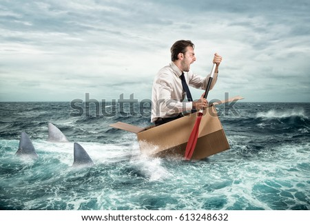 Escape from crisis Royalty-Free Stock Photo #613248632