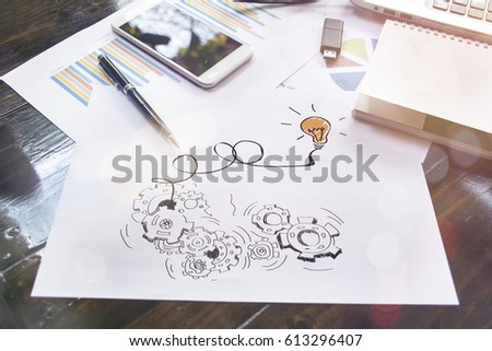 Business team working on laptop, ideas concept. #613296407