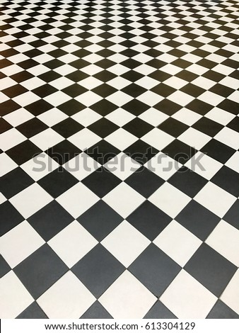 Pattern of back and white ceramic tiles. #613304129