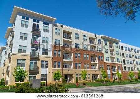 Modern apartment building #613561268