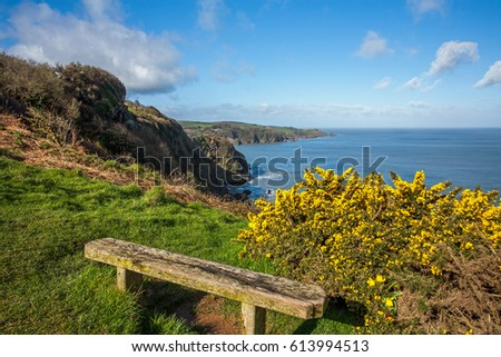 Beautiful Combe Martin Royalty-Free Stock Photo #613994513