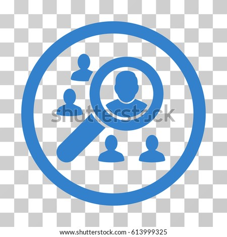 Search People icon. Vector illustration style is flat iconic symbol, cobalt color, transparent background. Designed for web and software interfaces.