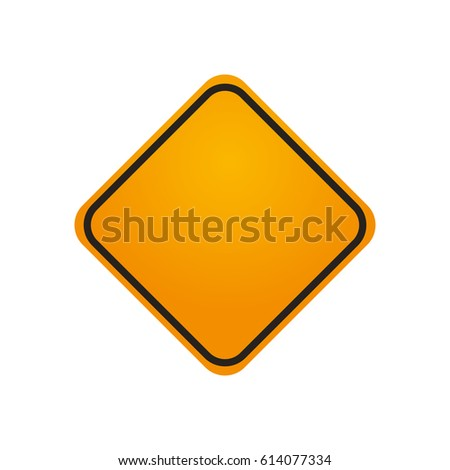 traffic sign danger warning blank #614077334