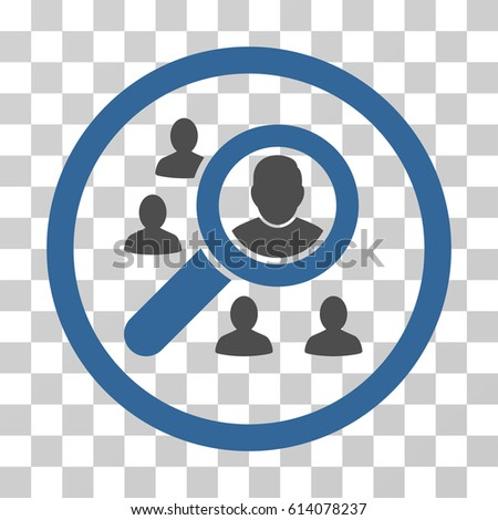 Search People icon. Vector illustration style is flat iconic bicolor symbol, cobalt and gray colors, transparent background. Designed for web and software interfaces.