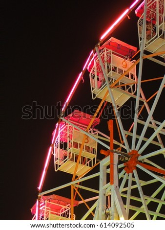 Old Pink Ferris wheel  #614092505