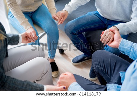Group of people holding hands #614118179
