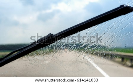 Windshield wipers Royalty-Free Stock Photo #614141033