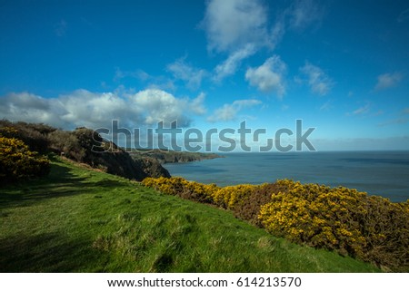 Rugged North Devon coast #614213570