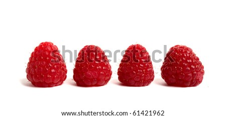 red raspberry isolated on white #61421962