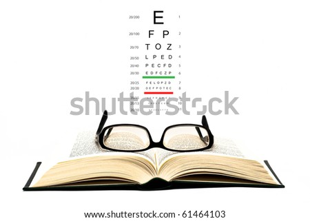 glasses on open book #61464103