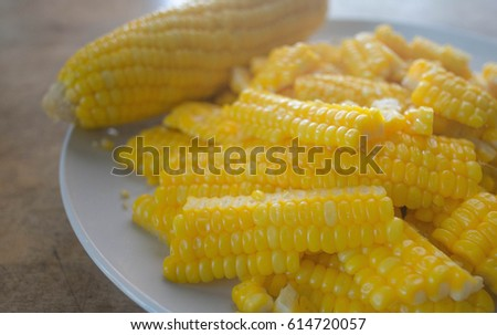 Corn on the plate #614720057