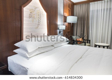 Comfortable pillows and bed #614834300