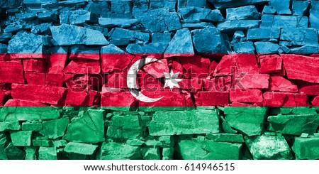 Flag of Azerbaijan #614946515