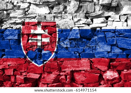 Flag of Slovakia #614971154