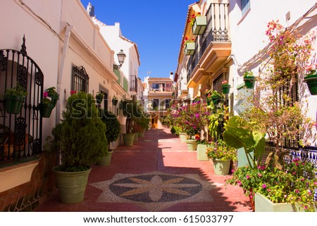 Spanish street. Costa del Sol, Andalusia, Spain. #615033797