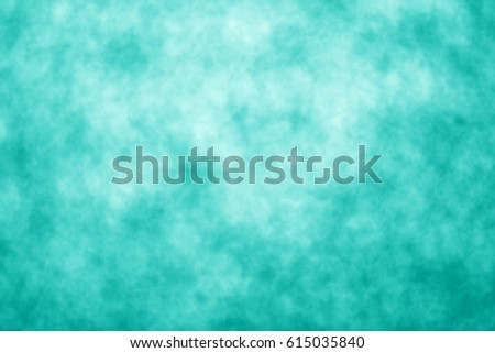 Abstract teal background or party invite for happy birthday card, sale, turquoise flyer texture, Christmas, aqua wedding watercolor pattern, mint color kid tie dye poster or backdrop #615035840