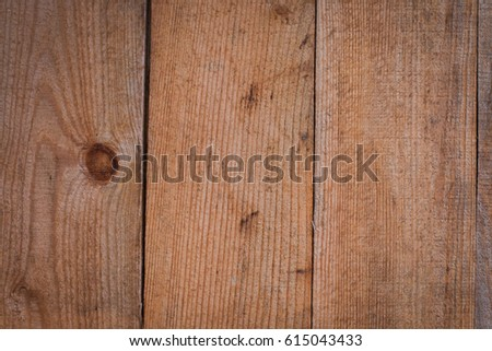 Background of wooden boards with a bough #615043433