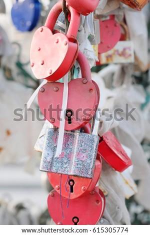 Wedding locks close up #615305774
