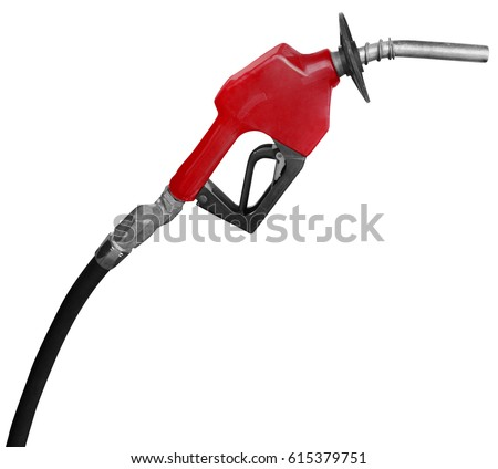 Gas Station Pump Nozzle isolated on a white background #615379751