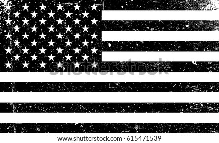Grunge monochrome United States of America flag. Black and white grunge vector illustration with texture. american patriotic grunge black background.