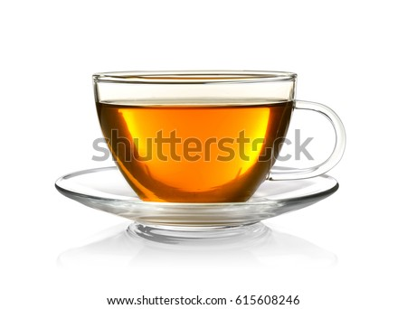 Cup of tea isolated on white #615608246