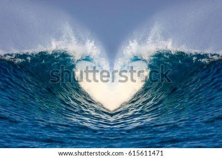 wave heart #615611471