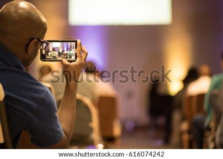 Smart phone view of concert