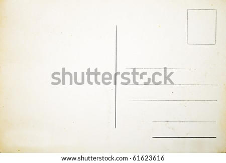Reverse side of an old postal card Royalty-Free Stock Photo #61623616