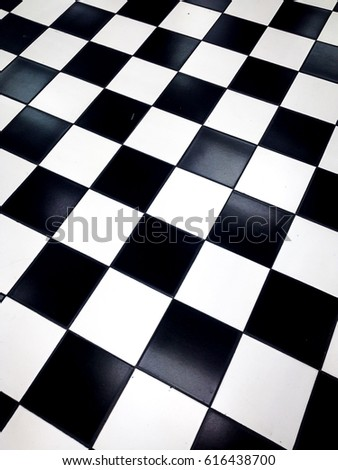 Checkered black and white squares background