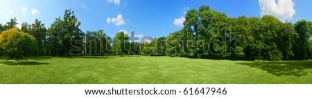 Panorama of big city park #61647946