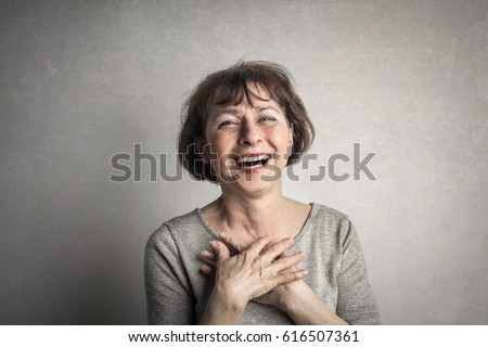 Laughing woman #616507361
