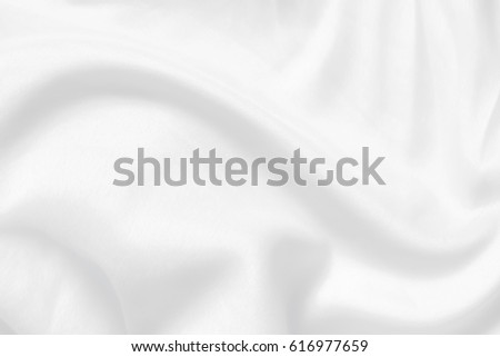White cloth background abstract with soft waves. #616977659