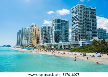 A beach in Sunny Isles. Miami, Florida #617018075