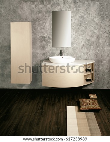 A picture of a sparkling modern bathroom design.
