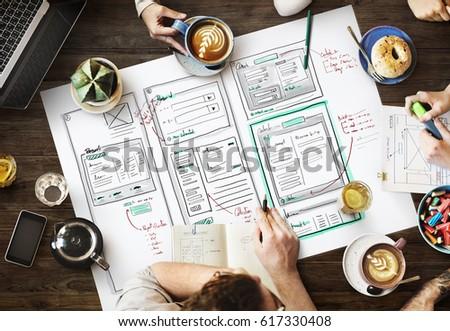 Website development layout sketch drawing #617330408