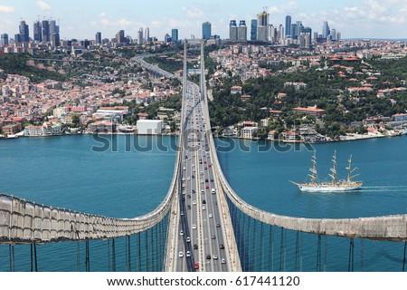 istanbul city Istanbul throat bird view #617441120