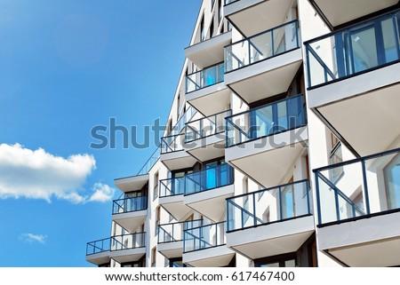Modern, Luxury Apartment Building Royalty-Free Stock Photo #617467400