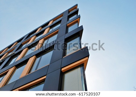Modern office building Royalty-Free Stock Photo #617520107