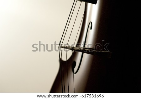 Cello strings close-up. Royalty-Free Stock Photo #617531696