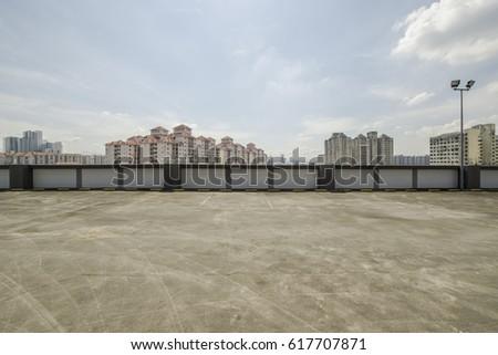 Big parking area in rooftop  #617707871