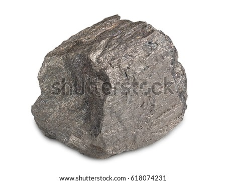 Iron ore isolated on white background. Iron ore are rocks and minerals from which metallic iron can be economically extracted . #618074231