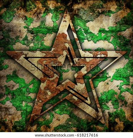 Abstract star on military grunge background #618217616
