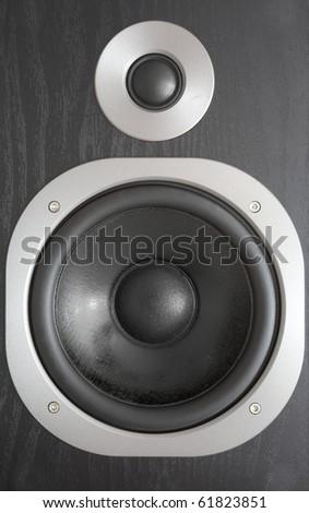 Background of black speaker with sphere #61823851