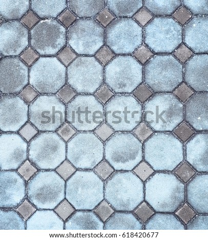 octagon brick, floor decoration, exterior decoration, can use as a texture of floor #618420677