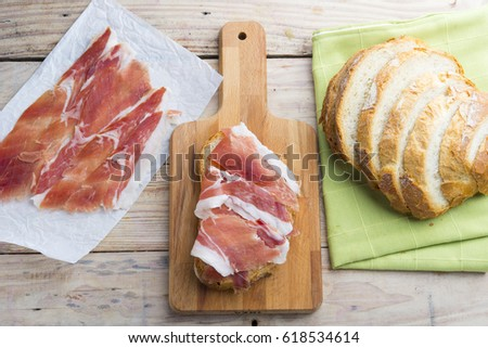 Jamon on a bread #618534614