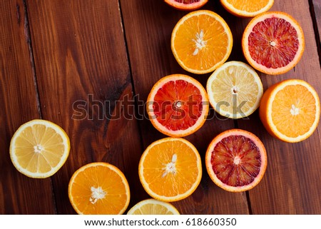Citrus on the table #618660350